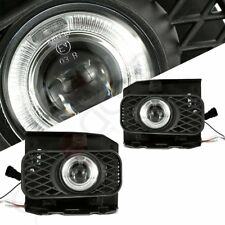 Pair Clear Halo Projector Fog Lights Bumper Lamps Set For 1999-2003 Ford F150