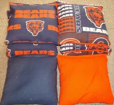 SET OF 8 CHICAGO BEARS CORNHOLE BAGS - QUALITY