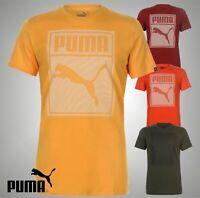 Mens Genuine Puma Printed Box QT Lightweight T Shirt Top Sizes S M L XL XXL
