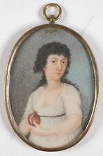 """Portrait of a Lady with a Pomegranate"", Italian Miniature, 1812"