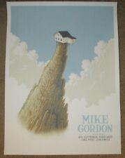 MIKE GORDON concert gig poster print BOULDER October 2017 phish Justin Santora