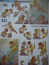 Christmas 3D Paper Tole Sheet Baby Cherubs NEW