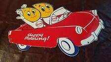 VINTAGE ESSO GASOLINE PORCELAIN GAS MOTOR OIL DROP BOY GIRL SERVICE STATION SIGN