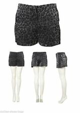 Topshop Animal Print Mid Rise Shorts for Women