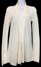 ffc2f3a896dd79 Donna Karan Cardigan Sweater Ivory Cashmere Blend Long Sleeves Size P Nwt  $1095