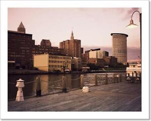 Cleveland During Art Print / Canvas Print. Poster, Wall Art, Home Decor - D