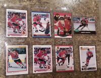 (8) Jeremy Roenick 1990-91 OPC Premier Upper French Score Pro Rookie card lot RC