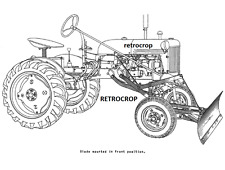IH Early Model McCormick-Deering Grader & Leveling Farmall Cub Operator's Manual