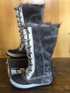 NWOB Sorel CATE THE GREAT 7 TUSK STONE  Boots Store Display  Waterproof Fur SNOW