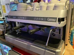 Large Carimali commercial coffee machine 2 group single phase electric 3kw