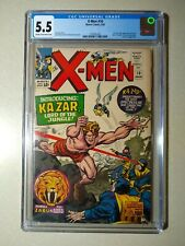 X-MEN #10 CGC 5.5 1st Silver Age Ka-Zar Zabu and The Savage Land 1965