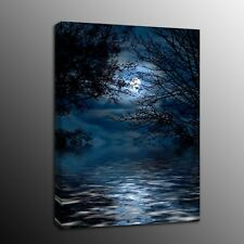 Landscape Home Decor Moon Tree Canvas Prints Painting Picture Wall Art