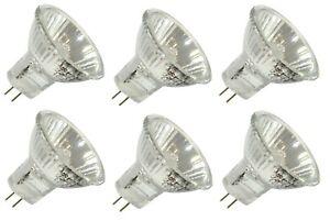 MR11 Halogen Bulbs 20w Watt 12V GU4 Recessed Downlight Spotlight Light Bulbs x 6