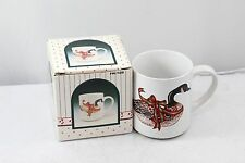 Wang's Int. Canadian Goose Mug Red Bow 1988 Christmas FR8039