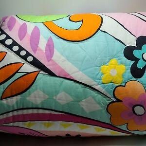 NEW Pottery Barn Teen Hibiscus Garden Full/Queen Comforter Quilt & 1 Sham