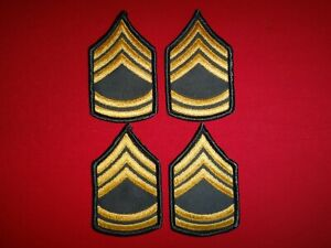 2 Pairs Of US Army SERGEANT 1st Class E-7 Small Chevrons Never Worn