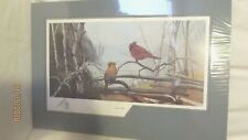 In The Wild Lithograph Print LE 67/500 George Wilhoit Cardinals Matted