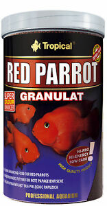 1000 ML Tropical Red Parrot Granulate Farbfördernd Also Top For Cichlids Malawi