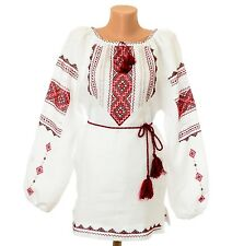 Ukrainian Hand Embroidered Women's Blouse Embroidery Vyshyvanka. Size - XL / XXL