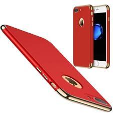 coque antichocs rouge luxueuse aspect rigide contour doré Apple iPhone 7