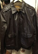Vintage US ARMY AIR FORCE A-2 Type Flyer's Bomber Brown Leather Jacket. Sz. XL
