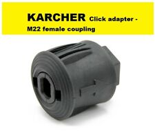 Karcher K Series Quick Release Click Female Adapter Coupling to M22 Female Screw