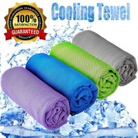 Instant Cooling Towel Ice Cold Golf Cycling Jogging Gym Sports Pilates 4 Colors