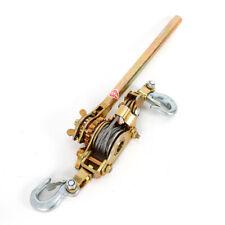 2 Ton Hand Lever Puller Come Along Double Hooks Cable Hd Hoist Ratchet