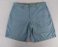 COLUMBIA Men Size 42 Flat Front Blue Shorts