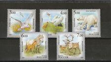 RUSSIA - SG7444-7448 MNH 2006 FAUNA OF SAKHA - BIRD/POLAR BEAR/PONY/DEER