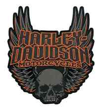 3XL HARLEY DAVIDSON GOTHIC WINGS SKULL VEST JACKET BACK PATCH