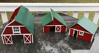 G SCALE 3 BARN FARM SET KIT-OUTSTANDING QUALITY!!!