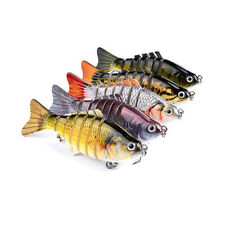 5PCS/Lot Fishing Lure Swimbait Crankbait Hard 7 Segment Artificial Fish Baits