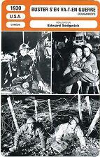 Fiche Cinéma. Movie Card. Buster s'en va-t-en guerre / Doughboys (USA) 1930
