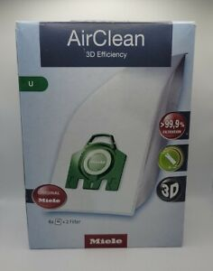 Miele Hyclean 3D U Series Bags and Filter Set (Pack of 4Plus 2)