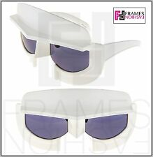 LINDA FARROW KTZ Star Wars Mask Shiny White Grey KTZ11 Sunglasses