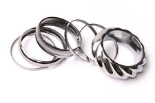 Set Of Nine Bracelets In Dark Metallic Colour Simple Gorgeous Outfit Add (T573)