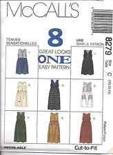8279 Uncut Vintage McCalls Sewing Pattern Misses Loose Fitting Jumper 8 Looks Ff
