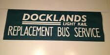 "Pres99 Bus Blind 42""- Docklands Light Rail Replacement Bus Service"