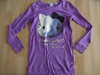H&M Hello Kitty langes Shirt Minikleid lila Gr. 146/152 TOP 03-14