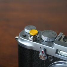 Yellow Concave Small Soft Release Button f/ Leica MP M8 M9 Fuji X100 Nikon Canon
