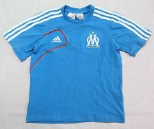 OLYMPIC MARSEILLE BOYS COTTON TEE BY ADIDAS SIZE 16 YEARS BRAND NEW WITH TAGS
