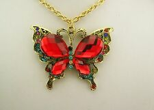 Joan Rivers Butterfly Pendant Necklace (comes w/box, pouch, romance card)