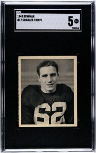 1948 Bowman #17 Charley Trippi Rookie SGC 5 HOF