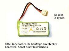 Akku für Binatone Big Button Combo , Ni-MH, 2,4V, 700mAh, auf Polung achten!