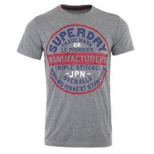 Magliette da uomo grigie Superdry in misto cotone