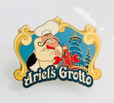Disney DLR Dining Chef Series #2 Ariel's Grotto Chef Louis and Sebastian Pin