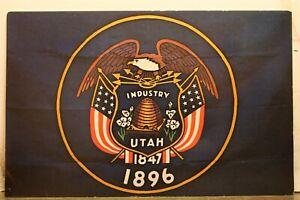 Utah UT State Flag Postcard Old Vintage Card View Standard Souvenir Postal Post