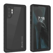 Galaxy Note 10+ Plus Waterproof Case, Punkcase Studstar Black Thin Armor Cover
