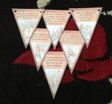 Baby Shower Peter Rabbit Bunting/banner decoration Birthday Christening